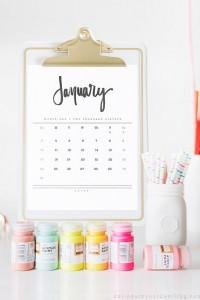 antipod marking communication agency_2016 Hand Lettered Calendar