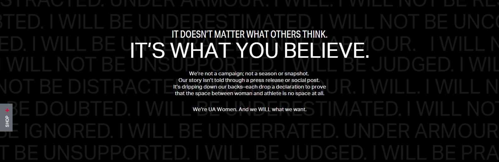 antipod smart ad of the week - under arnour I will what I want