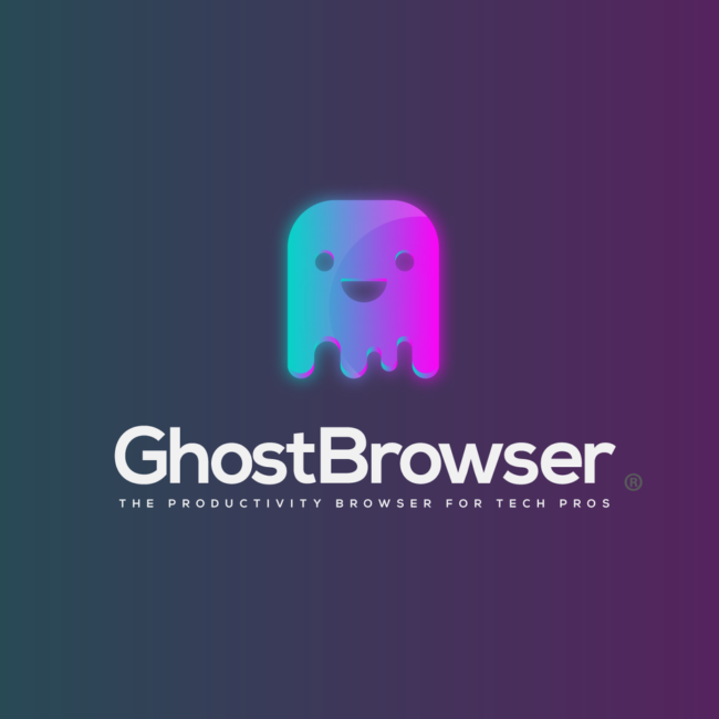logo gradient ghost browser