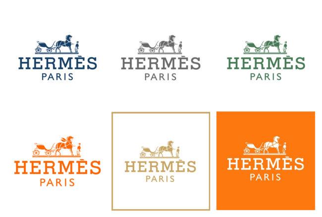 déclinaisons logos Hermes
