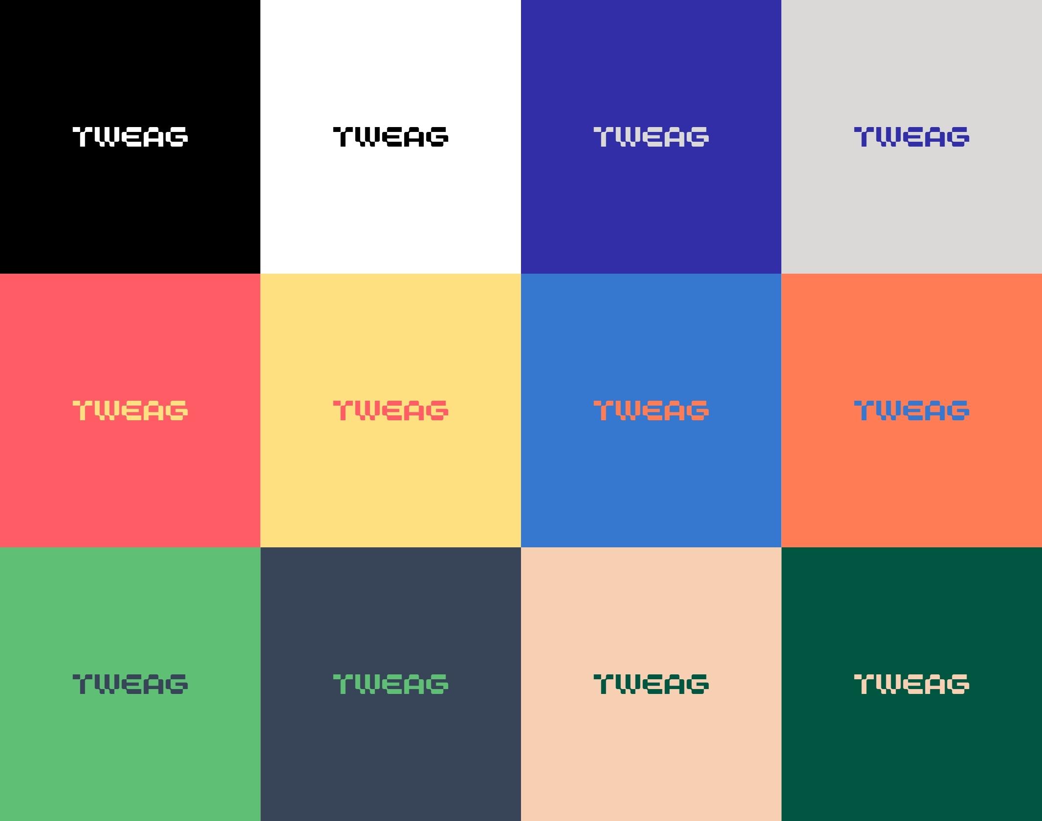 déclinaison couleur logo Tweag